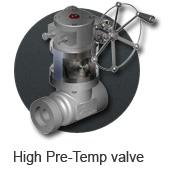High pre-temp ball valve