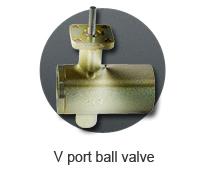 V port ball valve